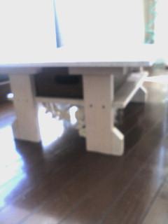アンティークテーブル出来たぞ。